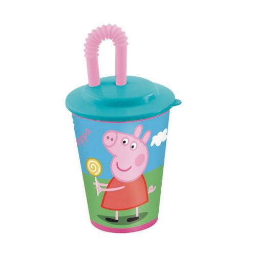 0237_Kozarček s slamico Pujsa Pepa Peppa Pig
