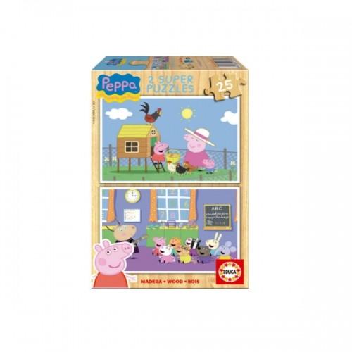 0253_Sestavljanka 2x25 Pujsa Pepa Peppa Pig