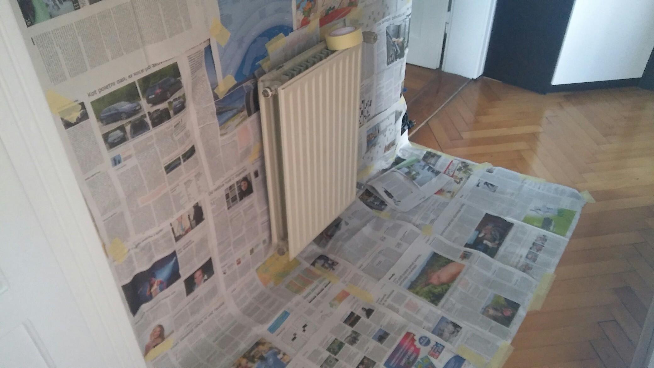 Barvanje radiatorjev postopek
